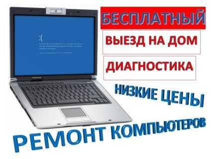Ремонт компьютеров, ноутбуков (Выезд) не фирма