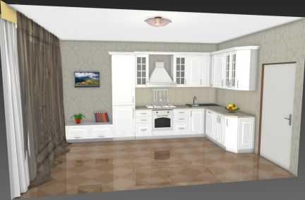 Разрабатываю дизайн кухни