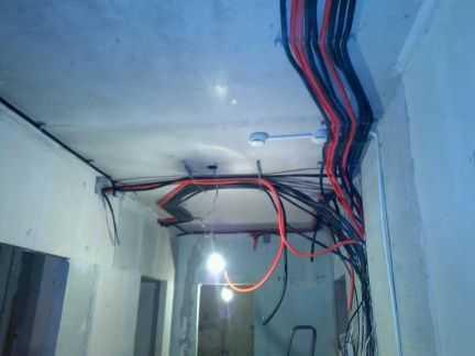 Электромонтажные работы в квартире доме офисе на п