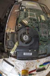 Чистка ноутбуков и системных блоков от пыли