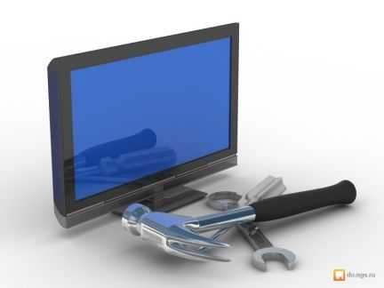 Ремонт телевизоров (кинескоп, плазма, ЖК, проекц)