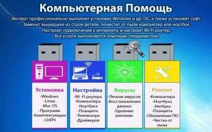 Ремонт ноутбуков+Ремонт компьютеров.Частный мастер