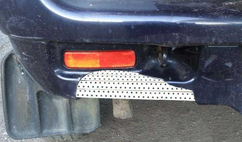 Бюджетный ремонт бампера автомобиля.
